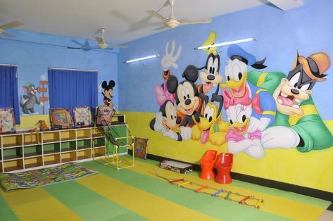 Playschool Wall Painting Play School Wall Painting Indore